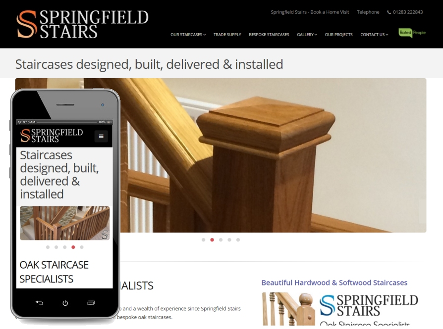 website design for Derby company Springfield Stairs